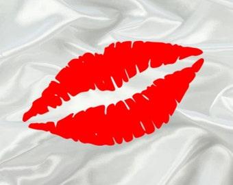 Kiss Lips Vinyl Decal *FREE SHIPPING*