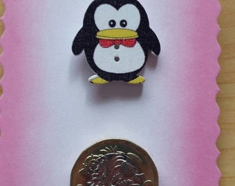 Penguin pin badge