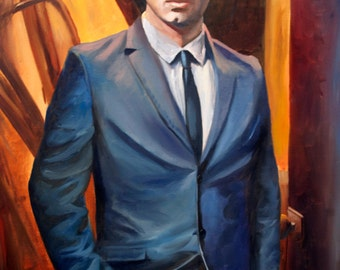 "MadeToOrder Original 24""x36"" oil painting portrait."