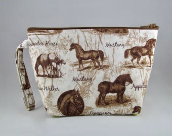 Horse Portraits Makeup Bag - Accessory - Cosmetic Bag - Pouch - Toiletry Bag - Gift