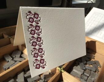 Scarlet Pimpernel -- set of 6 letterpress note cards