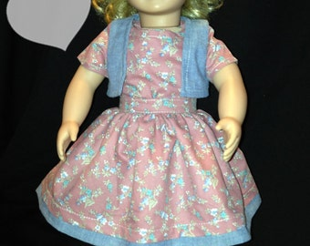 "18"" and 15"" Inspired by American Girl Doll Clothes Skirt, Blouse, Vest, Dress Outifit"