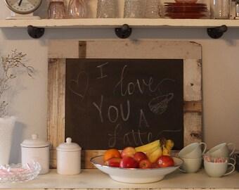 Reclaimed Wood Chalkboard, Farmhouse Decor, Farmhouse Chalkboard, Wedding Chalkboard, Shabby Chic Chalkboard, Wood Framed Chalkboard