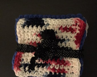 Red And White And Blue Coasters