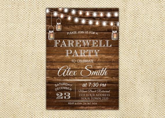 invitation for farewell dinner