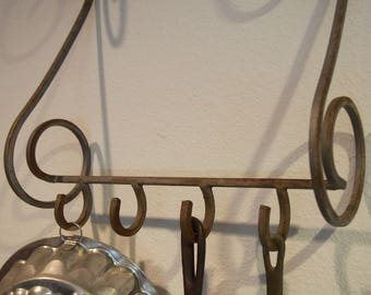 Small Vintage Hanging Pot Rack