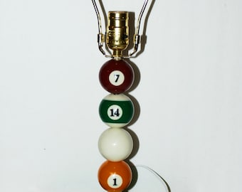 Handcrafted 8 Ball Triangle Rack Pool Ball Lamp/Design your own