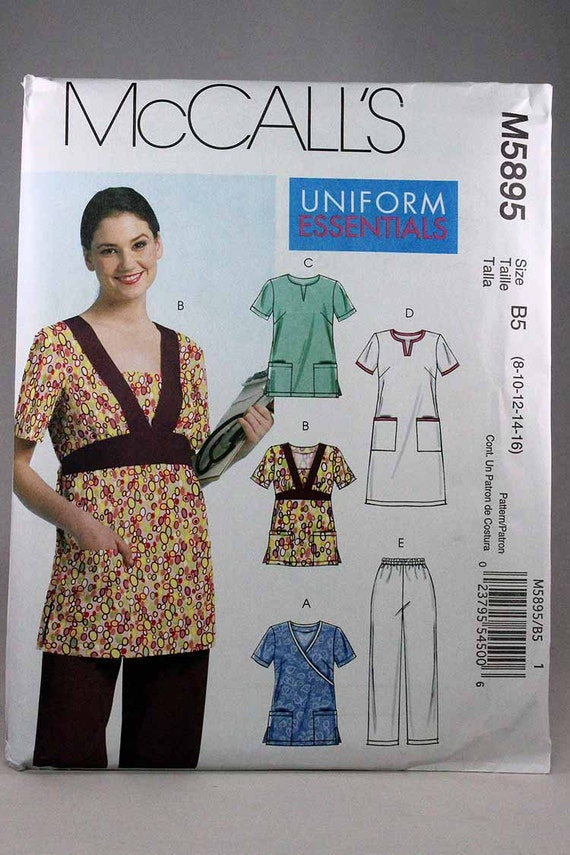 McCall\'s 5895, Misses\' Scrub Pants, Dress and Tops Sewing Pattern ...