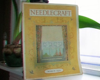 1921 Needlecraft Magazine March Issue with Great Cream Of Wheat Ad Vintage 1920s Sewing