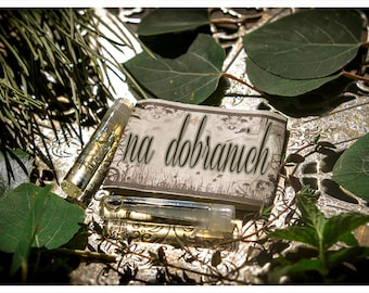 na dobranich - 2 ever precious vials of natural perfume - mini perfume sampler - primary notes: spicy pumpkin pie and clove