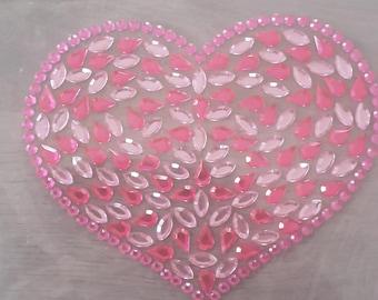 Stickers stickers 3D rhinestone hearts