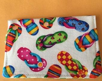 The *BusyBee* Business Card-Gift Card Holder -- Flip Flops, Sandals