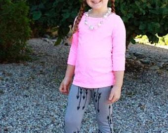 Baby Toddler Girls Leggings PDF Sewing Pattern Childrens easy leggings pattern tutorial