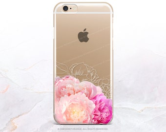 iPhone 8 Case iPhone X Case iPhone 7 Case Peonies Clear GRIP Rubber Case iPhone 7 Plus Clear Case iPhone SE Case Samsung S8 Plus Case U94