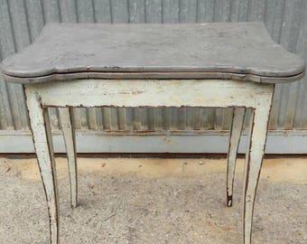Antique hand-painted game table. Decoration, antiques, antiques, decor, decor.