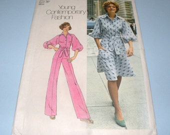1975 Simplicity 7257 pants and skirt pattern size 14 Uncut and Complete