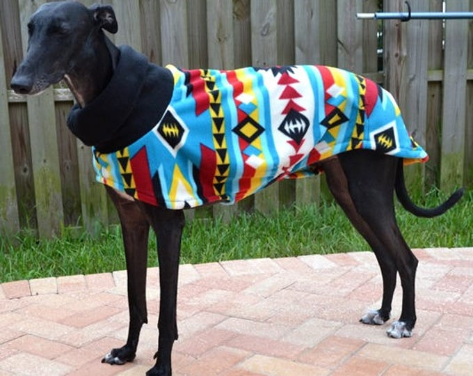 "Greyhound Coat. ""Brilliant Southwestern Cowl Neck Jacket"" - Greyhound Sizes"