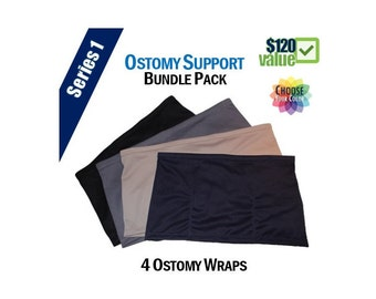 PouchWear Ostomy Support Bundle Pack | Series One: 4 Wraps