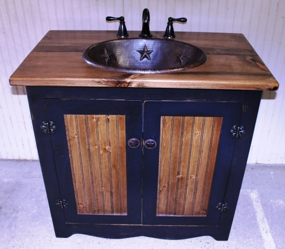 Rustic Bathroom Sinks And Vanities: Bathroom Vanity FH1296-36 Rustic Farmhouse Bathroom Vanity