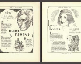 Daniel Boone Print, Lucrezia Borgia, Art History, Classroom Decor, Educational Poster, Historical Biography, History Poster, History Gift
