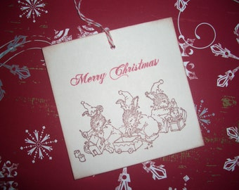Santa's Elves Holly Pond Hill Gift Tags - Set of Six