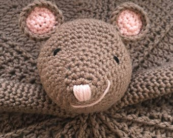 Mouse Baby Lovey Blanket
