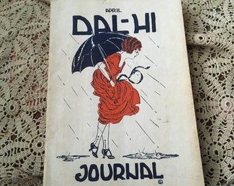 1921 When Local Dallas Peeps Got Together To Advertise Vintage Dal-Hi Journal