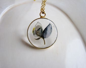 Texas Bluebonnet Necklace, Pressed Flower Necklace, Resin Jewelry, Nature Lovers Jewelry, Botanical Jewelry