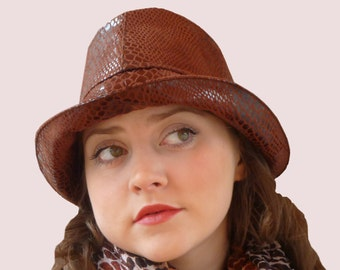 SEWING PATTERN:Snakeskin Fedora Rain Hat or Wide Brim Bucket Hat