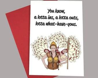Big Lebowski Bowling Dream Greeting Card