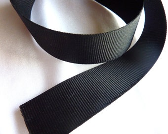 7/8 in. x 1 yard C-30 Black Grosgrain Ribbon