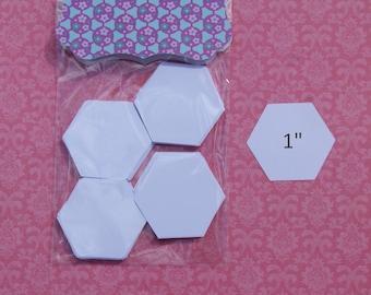 "1"" hexagons for English Paper piecing - quilting supplies - EPP hexagon - pre cut hexies - hexagon quilt making - paper pieces DIY hexie"