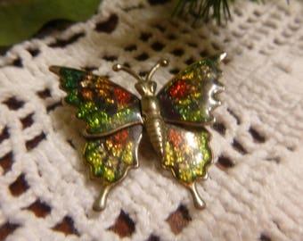 Cloisonné Butterfly Pin.      (T)
