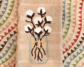 Farmhouse cotton in mason jar kitchen towel