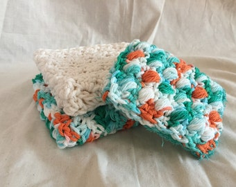 wash cloth sponge set-dish cloth sponge set-crochet dish cloth-crochet wash cloth-washcloth-dishcloth-reusalbe sponge-eco sponge-sponge set