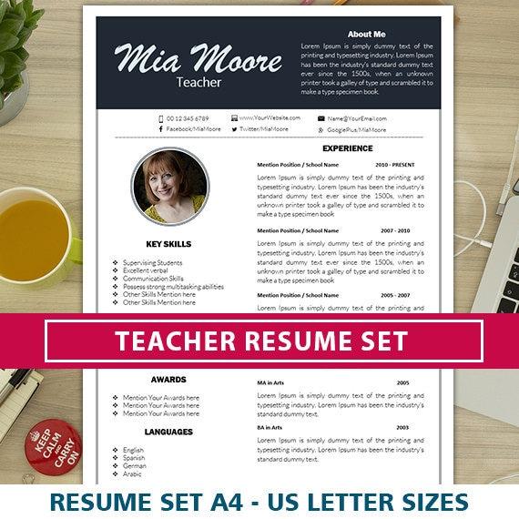 elementary teacher resume free cover letter template