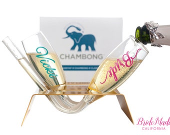 Plastic Champagne Flutes, Personalized Chambong, Bridesmaid Champagne Glasses, bridesmaid champagne glasses, Proposal, bridal shower gift