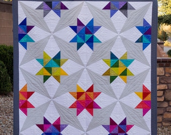 Whirl - Modern Half Square Triangle and Paper Piece PDF Quilt Pattern