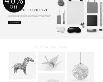 40% OFF! Motive - Minimal Portfolio WordPress Theme (live preview below)