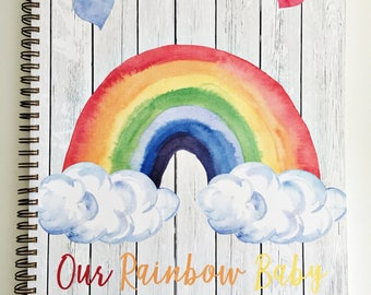 Customized Pregnancy journal, expecting mom gift, maternity gift, pregnancy keepsake and book, rainbow baby