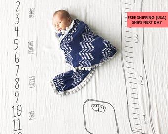 "Baby Milestone Blanket ™ ""Watch me Grow"" /swaddle blanket / anniversary blanket / age blanket / growth blanket / baby shower gift"