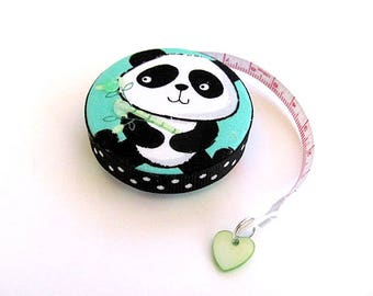 Tape Measure Wide Eye Pandas Retractable Pocket Tape Measure