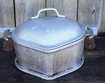 Guardian Service Aluminum Roasting Pan, Vintage Rectangular Roaster With Lid