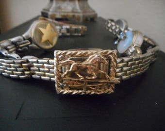 Horse deco belly chain or  belt  made from watches