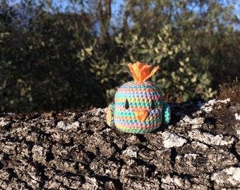 Multicolored Amigurumi Bird (crochet)