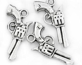Gun/Pistol Charm - Set of 10 - #HK1469