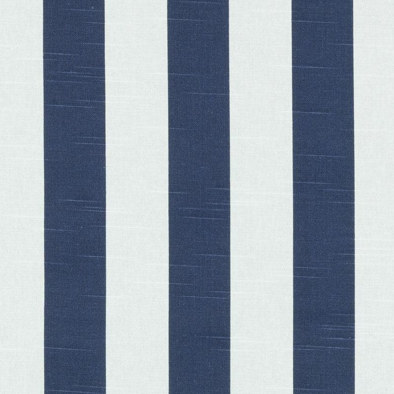 ON SALE Navy Blue Cotton Stripe Upholstery Fabric Blue