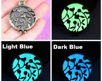 Magic Glow In The Dark Fairy Light Round Garden Rose Necklace