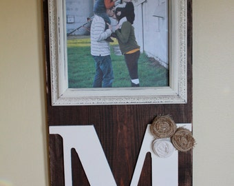 Rustic Picture Frame With Letter