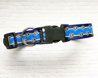 Thin Blue Line Police Dog- Large Dog Collar